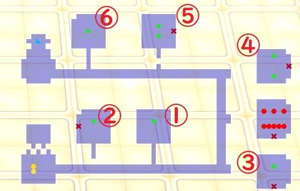 ゆらぎ荘の幽奈さん 湯けむり迷宮_箱庭高校の迷宮13Fマップ